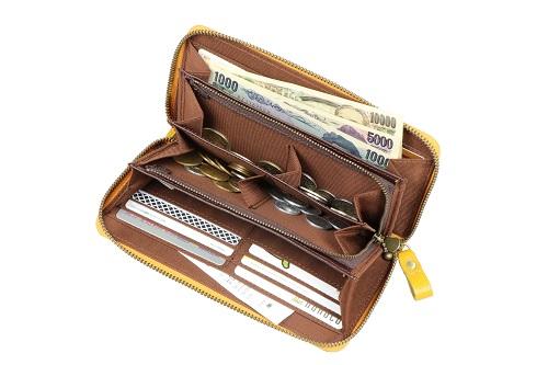 豊岡工房 牛革製コインが分けられる長財布