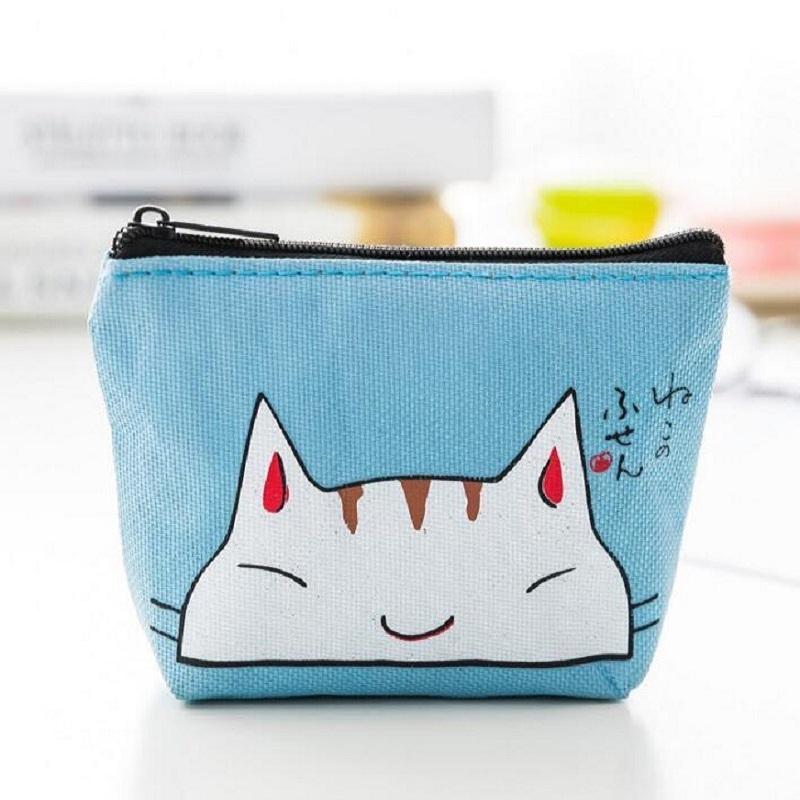 超可愛い猫柄 ネコ ミニ財布 ミニポーチ 男女兼用 がま口 カップル 友達 お揃い