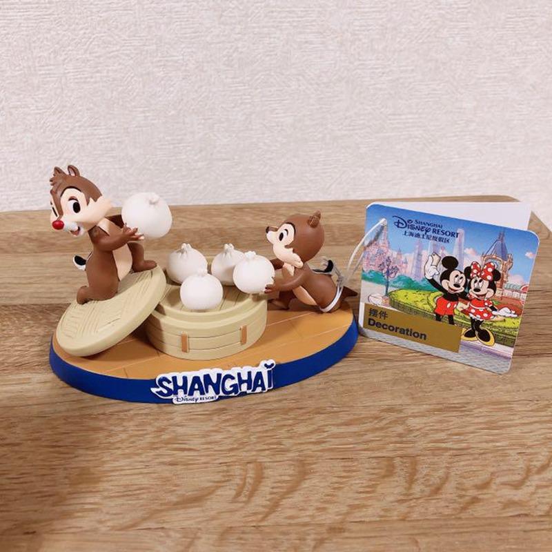 【上海ディズニー限定品】超可愛いチップとデールの置物 小籠包