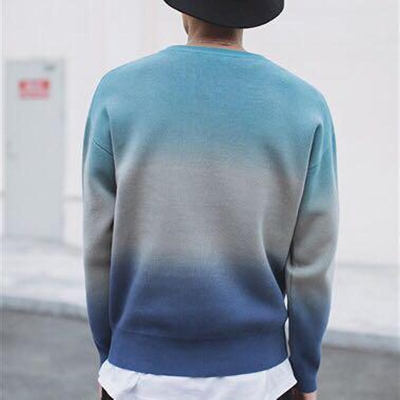 おしゃれ メンズ ニット セーター 防寒 綿100% トップス 丸首 長袖 カジュアル