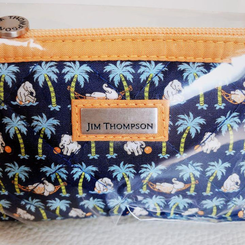 【Jim Thompson】タイ限定ブランド ミニポーチ ミニ財布 小物入れ 可愛い象柄