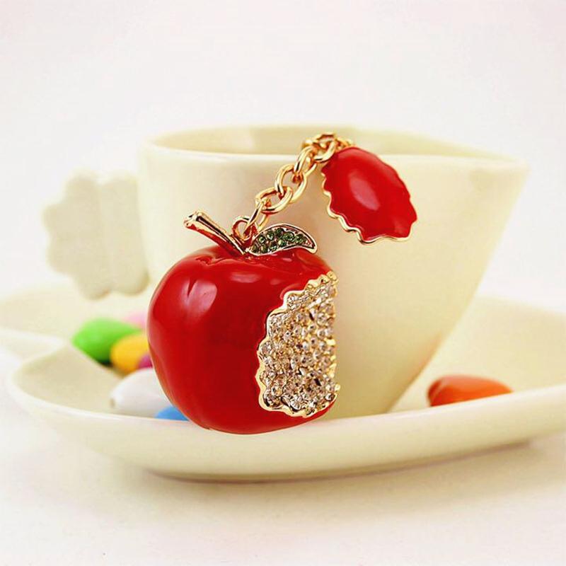 りんご クリスマス限定 バッグチャーム キーホルダー 2way カップル お揃い