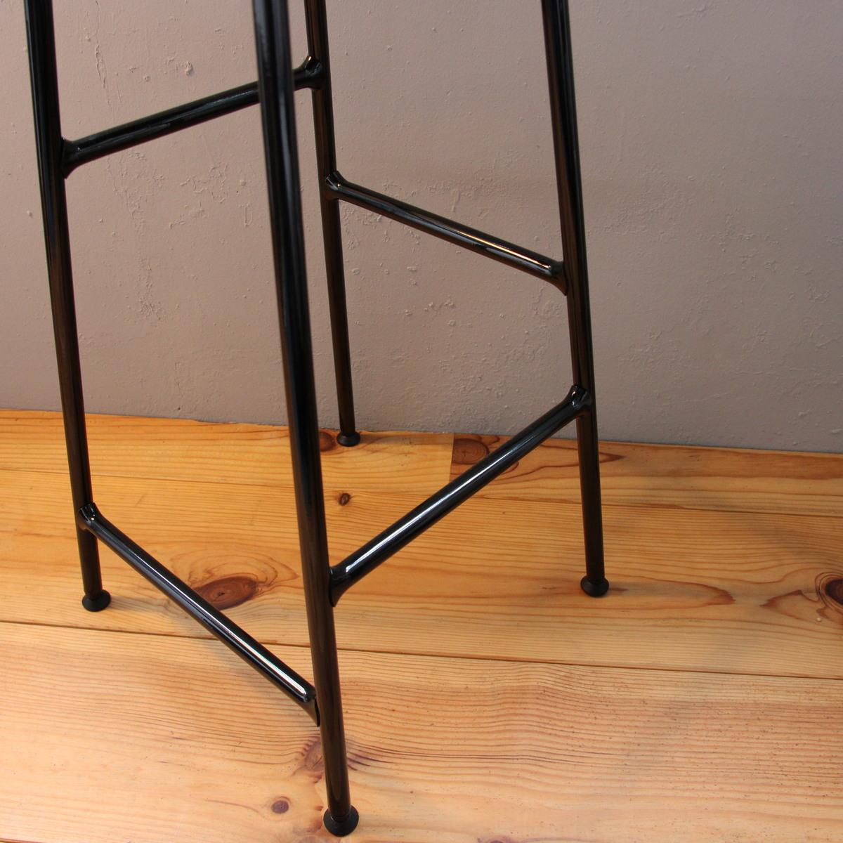 CORNET BAR STOOL LOW Black Steel