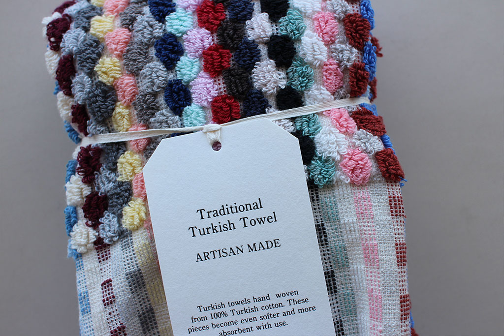 Pompom Towel Multi color Small