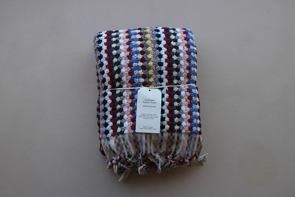 Pompom Towel Multi color Large