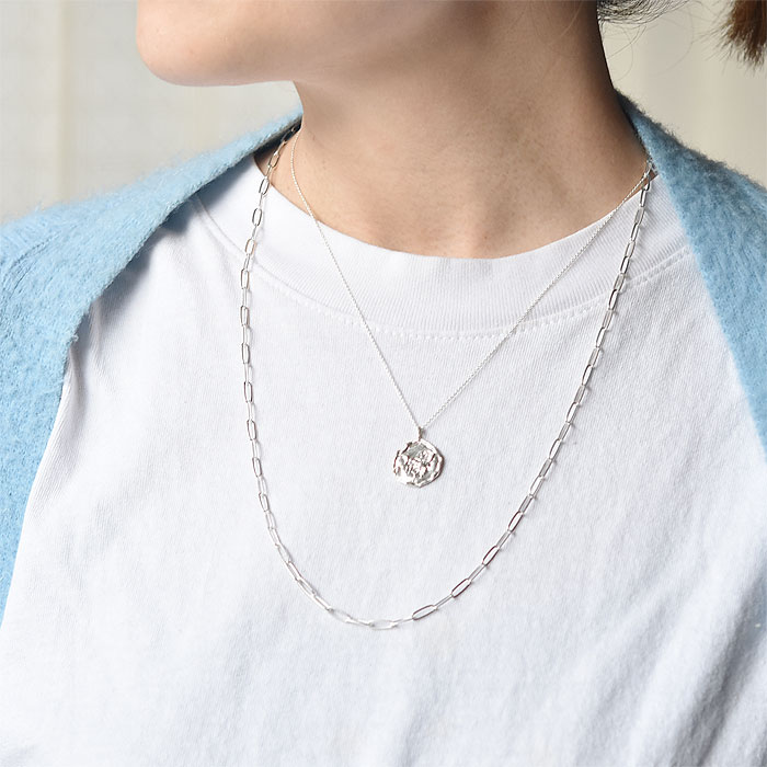 ≪chibi jewels≫ チビジュエルズ<br>モロッコ 蜂 ハチ モチーフ コインネックレス メダリオン シルバー ネックレス コイン SV925 Bee Coin Necklace (Silver)