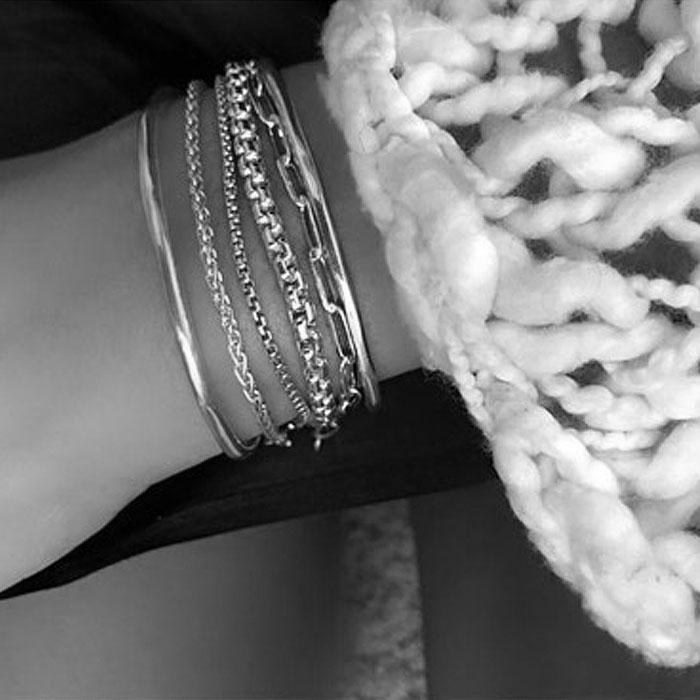 ≪MARAMCS≫ マラムクス<br>ボックス チェーン シルバー ブレスレット SV925 Box Chain Bracelet (Silver)