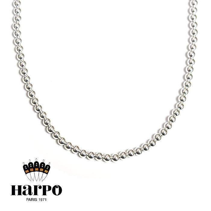 ≪HARPO≫ アルポ<br>シルバー ボールチェーン 2連 ロング ネックレス SV925 ナバホパール Silver Necklace (Silver)