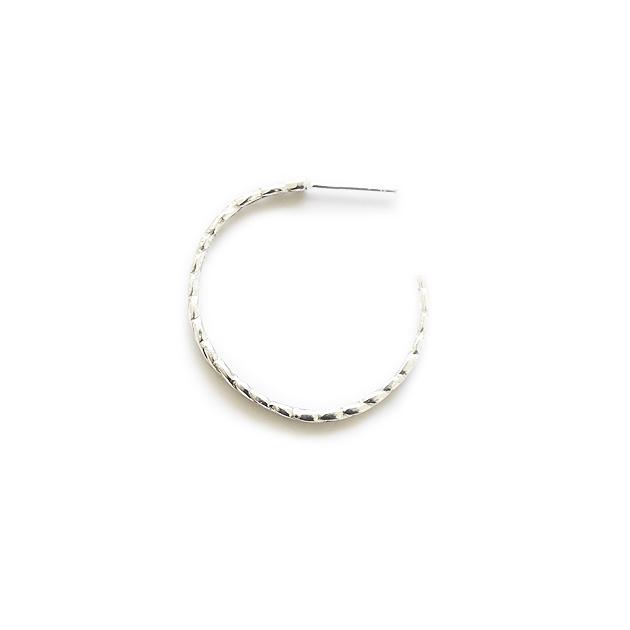 ≪chibi jewels≫ チビジュエルズ<br>ロープ フープ ラージ シルバー ピアス Rope Large Hoop Earrings (Silver)