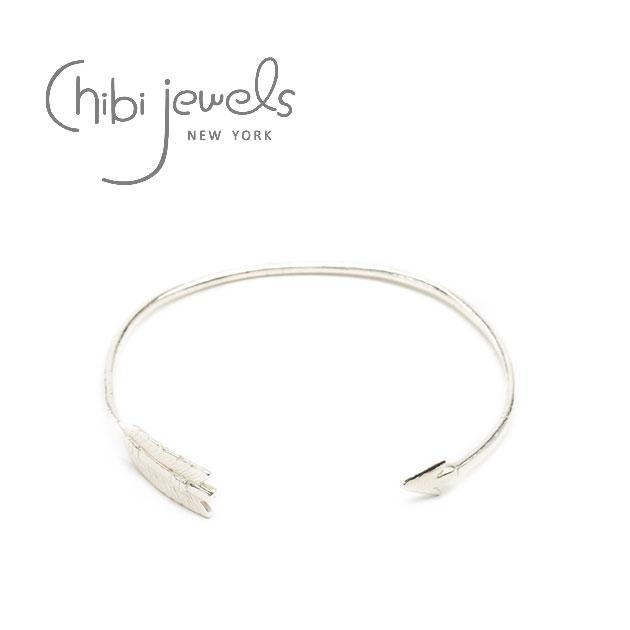 ≪chibi jewels≫ チビジュエルズ<br>弓矢アローデザイン シルバー C型バングル Arrow Cuff (Silver)