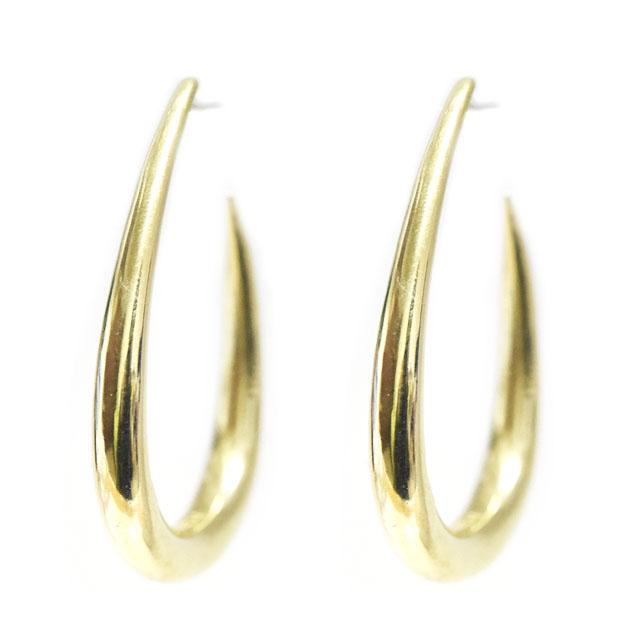 ≪chibi jewels≫ チビジュエルズ<br>ティアドロップ 楕円形 ボリューム ゴールド フープ ピアス Oval Hoop Earrings (Gold)